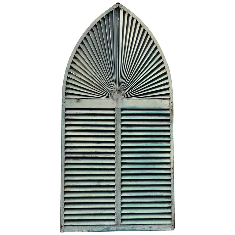 Gothic Arch Window Shutter For Sale