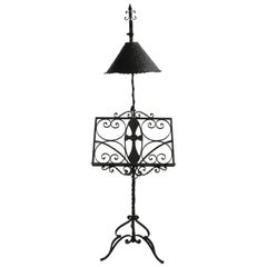 Gothic Arts & Crafts, Wrought Iron Bible, Bookstand, Lecturn, Maitre D Stand