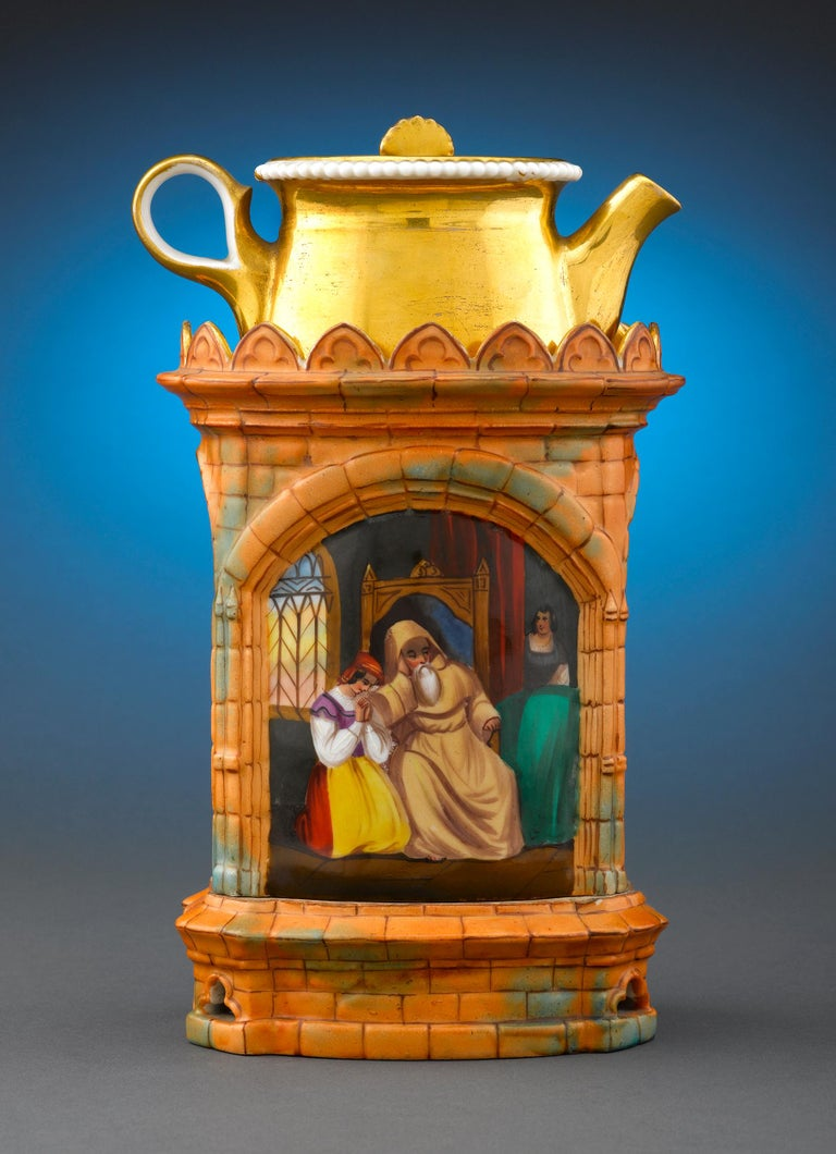 Hand-Painted Gothic Church Veilleuse For Sale