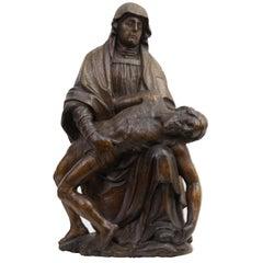 Gothic Flemish Oak Pieta
