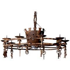 18th Century Italian Iron Chandelier