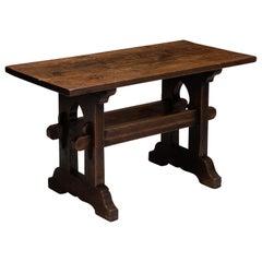 Gothic Oak Console Table, England, circa 1890