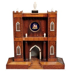 Gothic Revival Architectural Model for a Watchstand , English, circa 1830