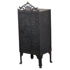 Gothic Revival Blacksmith Made Smoke Cabinet, circa 1880