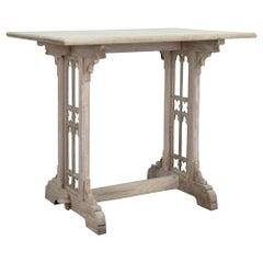 Gothic Revival Bleached Oak Belgian Side Table