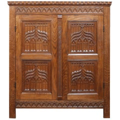 Gothic Revival Carved Cupboard