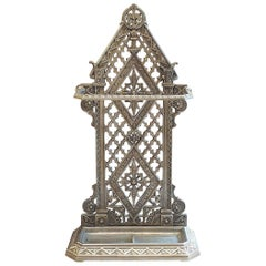 Gothic Revival Cast Iron Stick Stand
