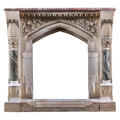 Gothic Revival Fireplace by E Pugin