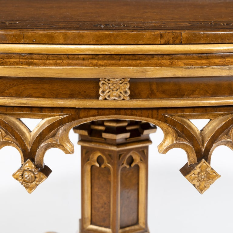 Gothic Revival Oak Centre Table made for Windsor Castle designed by A.W.N. Pugin For Sale 5