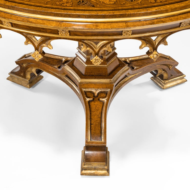 Gothic Revival Oak Centre Table made for Windsor Castle designed by A.W.N. Pugin In Good Condition For Sale In London, GB
