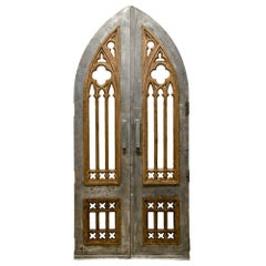 Gothic Steel and Bronze Church Doors