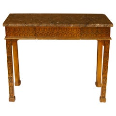 Gothic Stone Top Console with Drawer