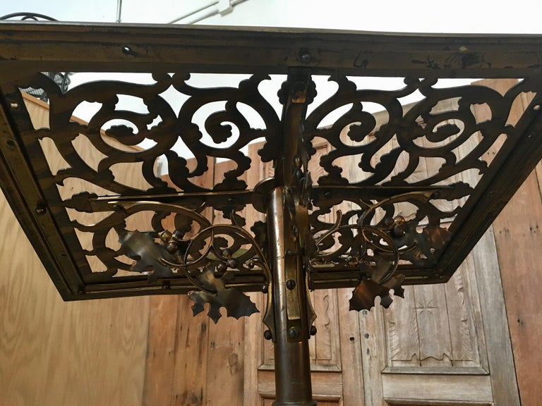 Gothic style Brass Lectern For Sale 9
