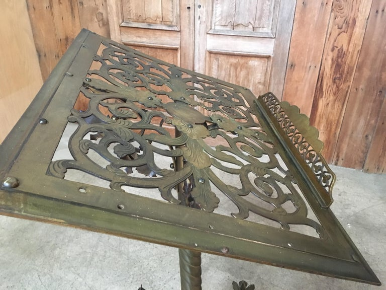 Gothic style Brass Lectern For Sale 10