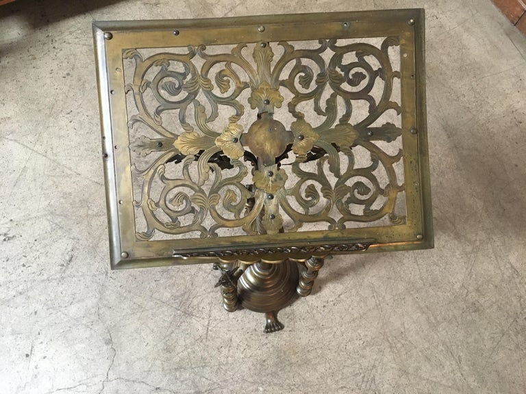 Gothic style Brass Lectern For Sale 12