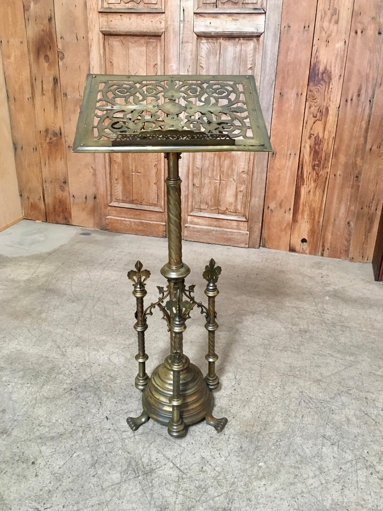 Gothic style Brass Lectern For Sale 3
