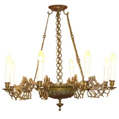 Gothic Style Chandelier from the 20ies, Folk Art