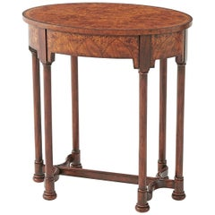 Gothic Style Oval Side Table