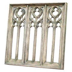 Gothic Three Arched Composite Stone Window, 20th Century