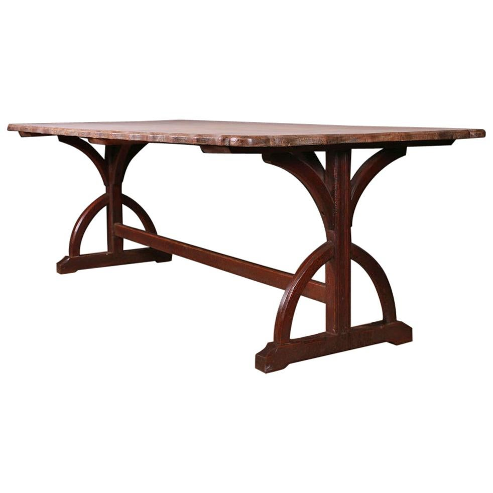 Gothic Trestle Table/ Library Table