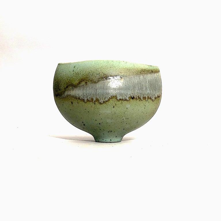 Mid-Century Modern Gotlind Weigel Oval Studio Ceramic Vase For Sale