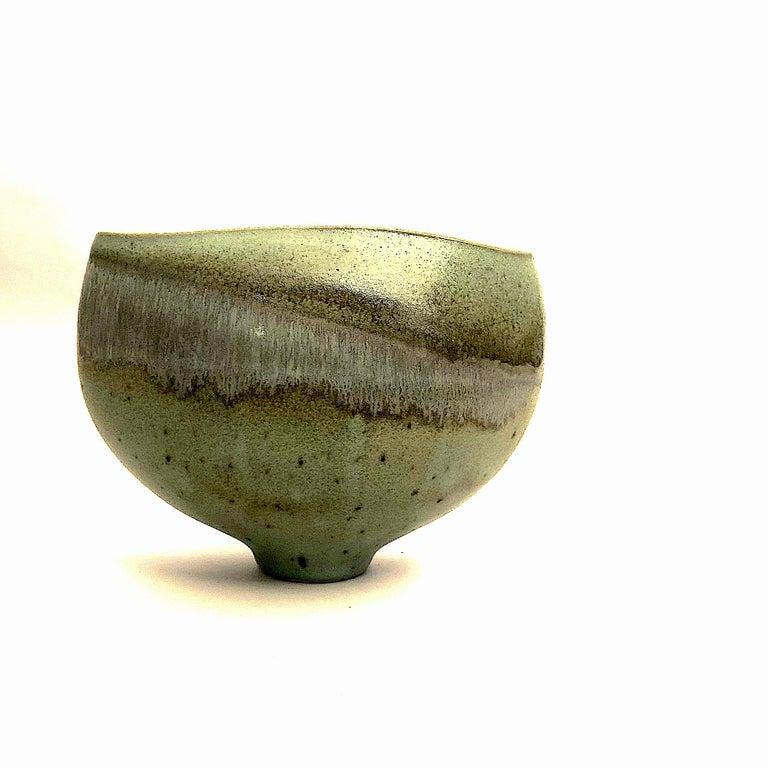 German Gotlind Weigel Oval Studio Ceramic Vase For Sale