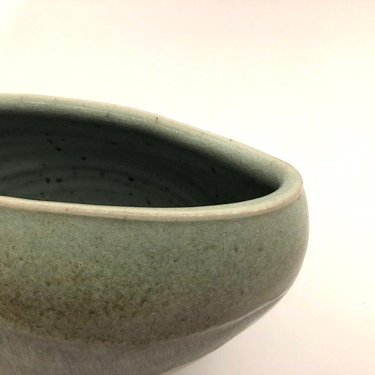 Glazed Gotlind Weigel Oval Studio Ceramic Vase For Sale
