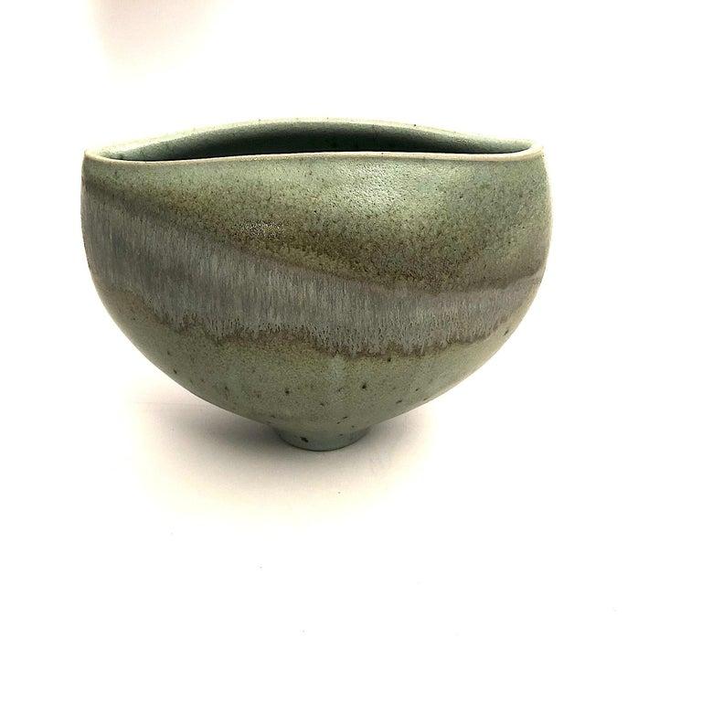 Gotlind Weigel Oval Studio Ceramic Vase In Excellent Condition For Sale In Munich, DE