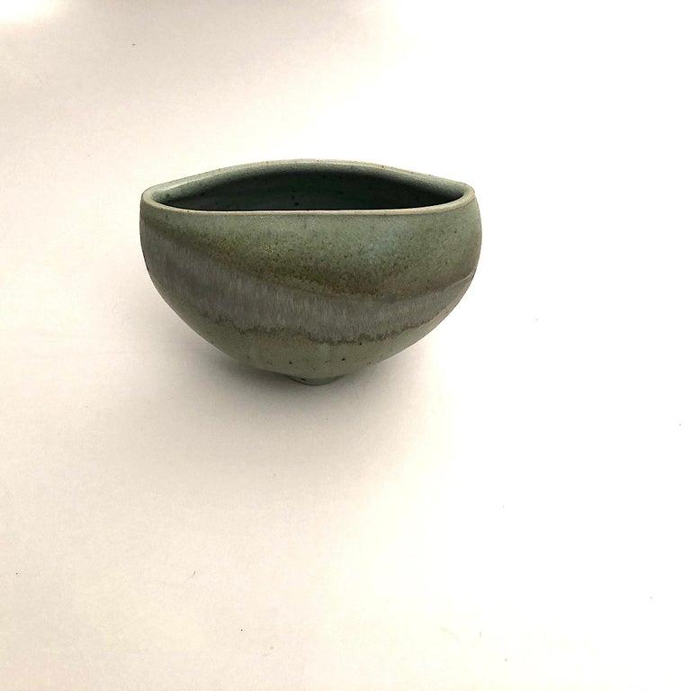 Mid-20th Century Gotlind Weigel Oval Studio Ceramic Vase For Sale