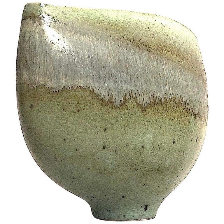 Gotlind Weigel Oval Studio Ceramic Vase For Sale