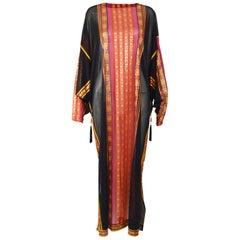 Gottex 1970s Vintage Boho Jersey Kaftan Dress