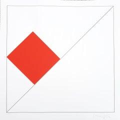 Gottfried Honegger Composition 1 3D square (red) 2015