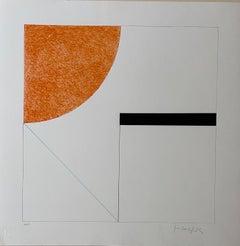 Gottfried Honegger  Composition 2 (orange, black and light blue)   2015