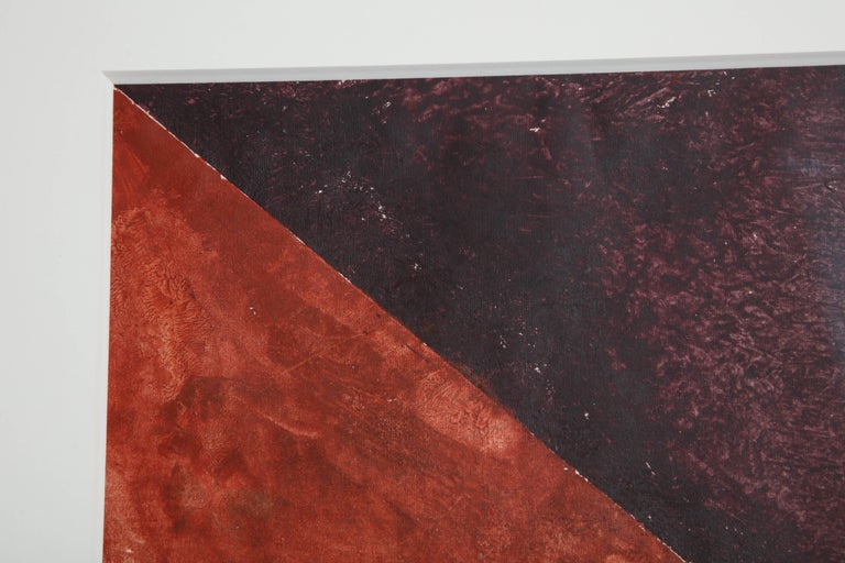 French Gouache Composition for Rug Design for Mme, Mareille Desvignes by Boris Lacroix For Sale