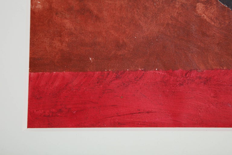 Other Gouache Composition for Rug Design for Mme, Mareille Desvignes by Boris Lacroix For Sale