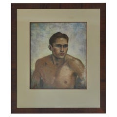Gouache Painting of Young Man