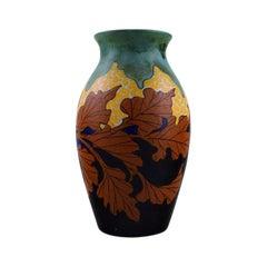 Gouda, Hand Painted Art Nouveau Vase, The Netherlands, 1920s