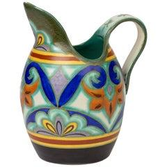 Gouda Plateelbakkerij Zuid Holland Art Deco Neolca Pottery Jug