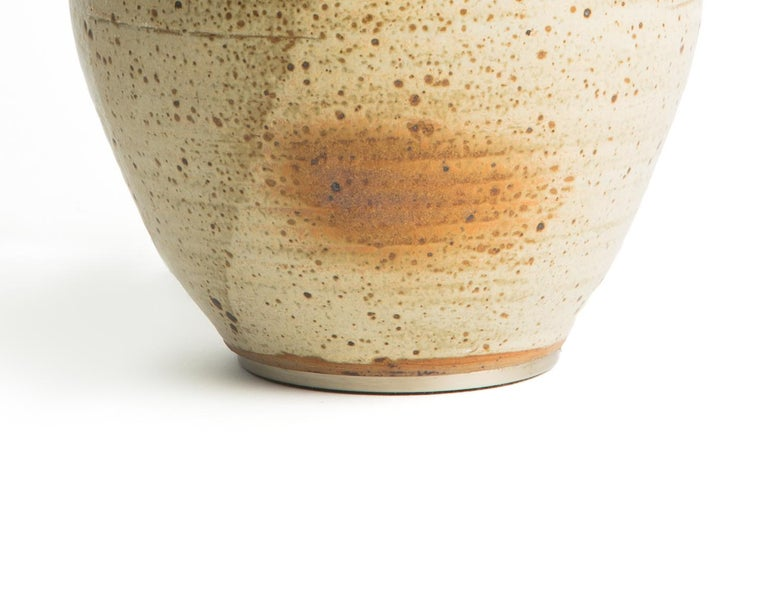 Mid-Century Modern Gourd Ceramic Table Lamp