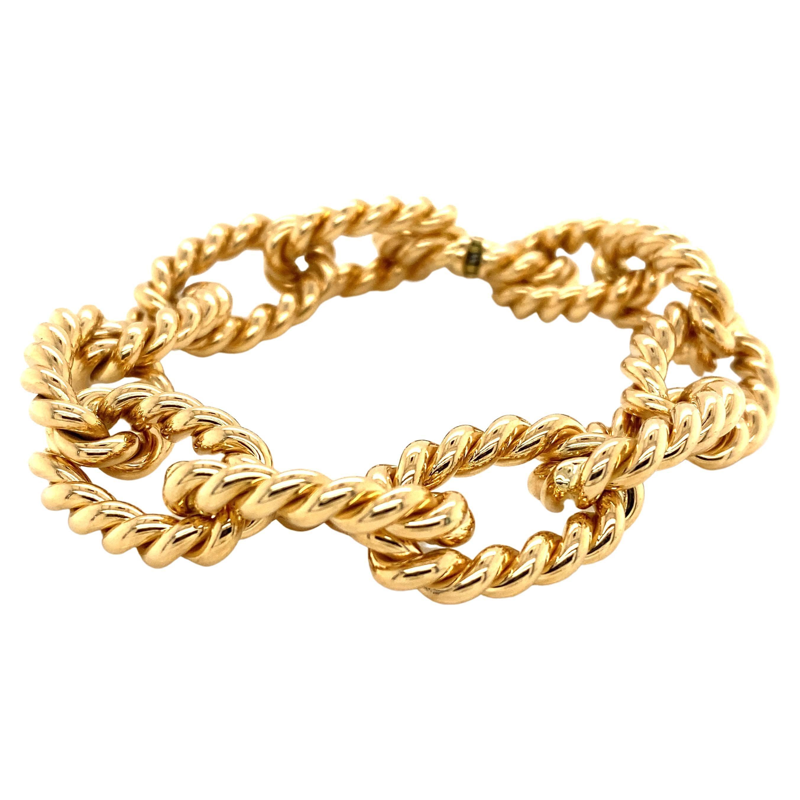 Gourmet Bracelet 18K Yellow Gold