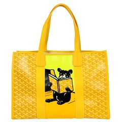 Goyard 2020 Yellow Goyardine Canvas Bulldog Villette Tote Bag