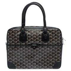 Goyard Black Goyardine Canvas and Leather Ambassade PM Briefcase