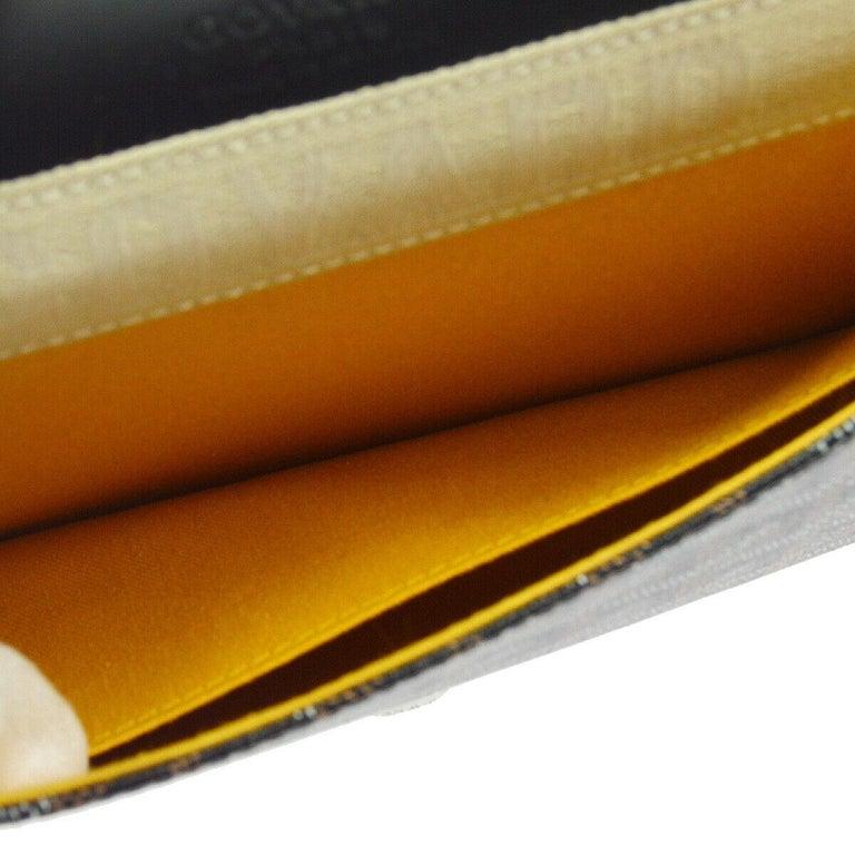 Goyard Black Monogram Canvas Bamboo Silver Evening Envelope Clutch Bag in Box For Sale 1