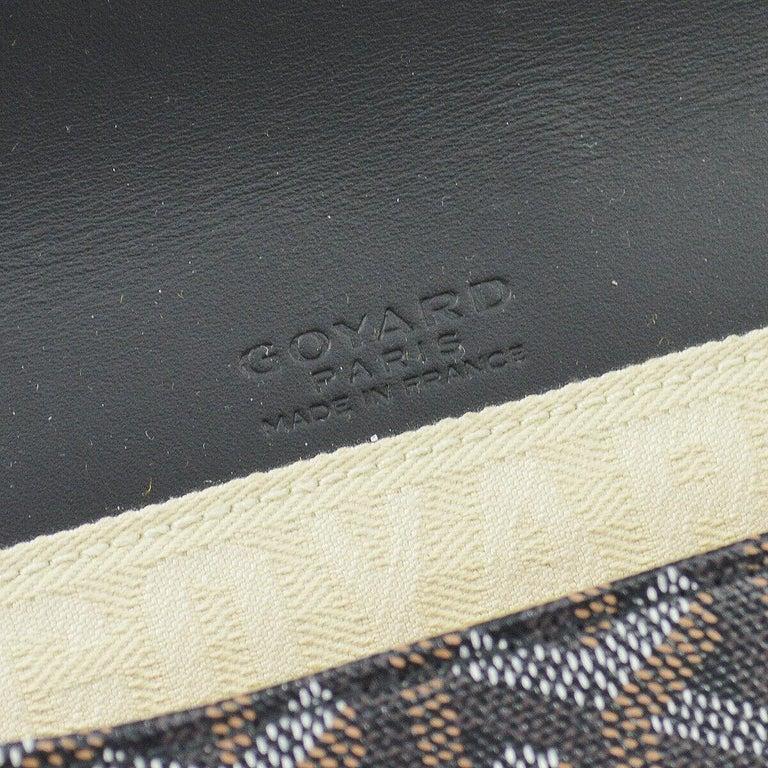 Goyard Black Monogram Canvas Bamboo Silver Evening Envelope Clutch Bag in Box For Sale 2
