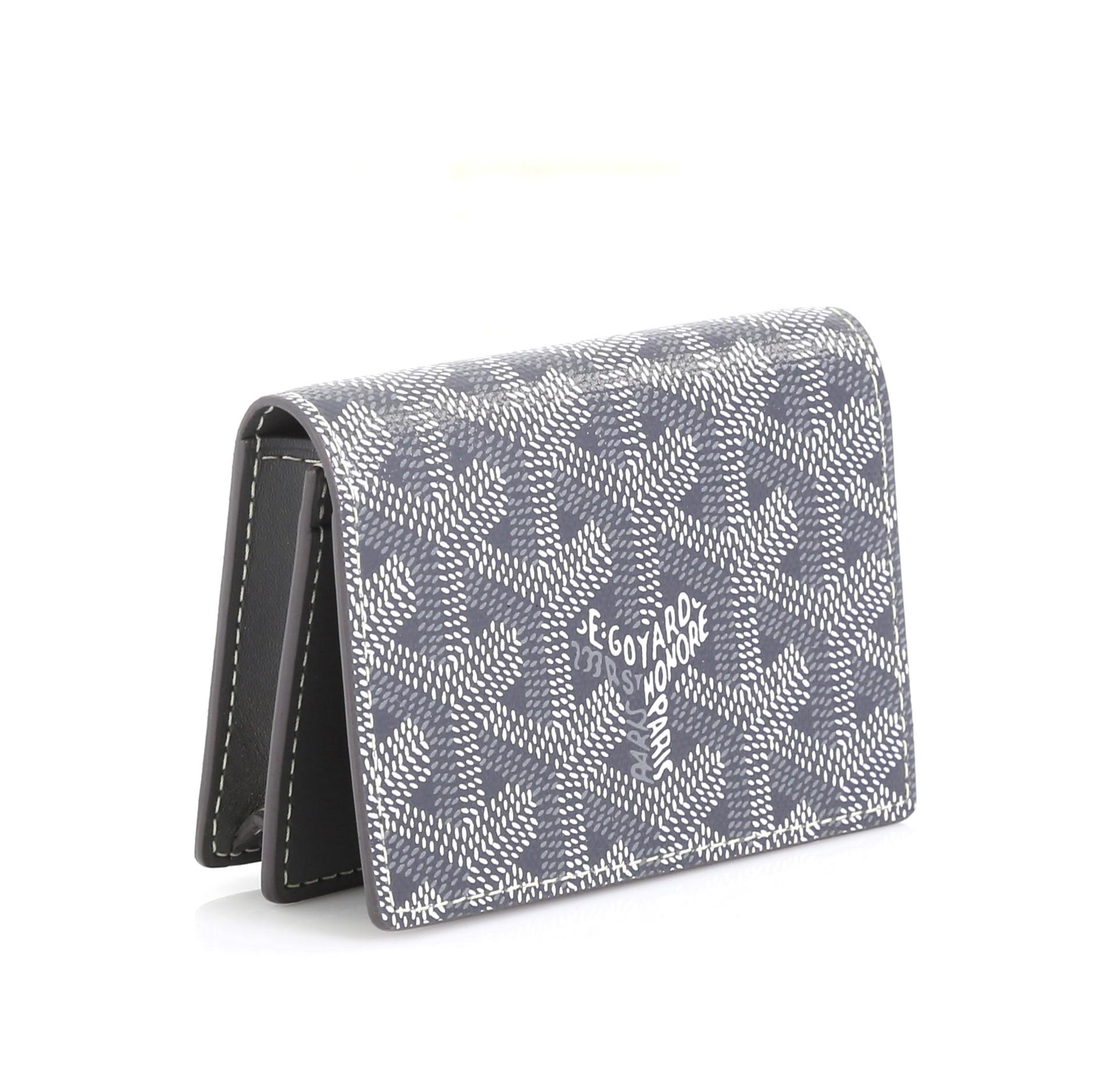 Goyard Business Card Holder Coated Canvas
