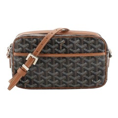Goyard Cap Vert Handbag Coated Canvas