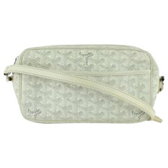 Goyard Chevron Goyardine Cap Vert 2186735921 White Coated Canvas Cross Body Bag