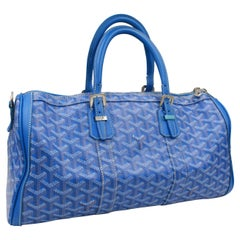 Goyard Croissière handbag in blue monogram canvas