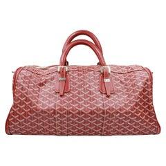 Goyard Croissière handbag in red monogram canvas