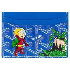 Goyard Blue Customized Slotcard Wallet